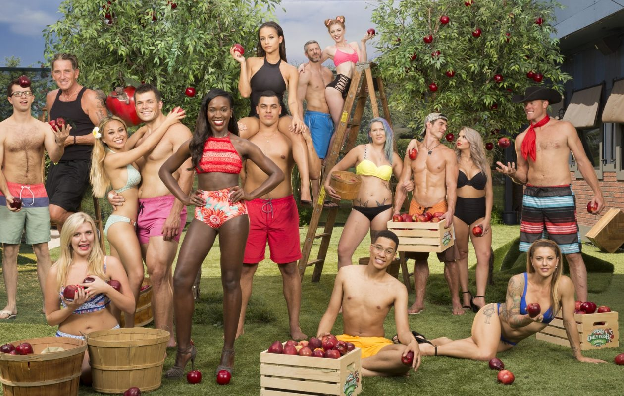 Season 19 of Big Brother. Top Row: L-R: Jessica Graf, Matthew Clines, Raven Walton. Middle Row: L-R: Cameron Heard, Kevin Schlehuber, Alex Ow, Mark Jansen, Dominique Cooper, Josh, Martinez, Megan Lowder, Cody Nickson, Elena Davies, Jason Dent. Bottom Row: L-R: Jillian Parker, Ramses Soto, Christmas Abbott. (CBS Broadcasting, Inc.)