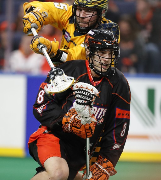 Kevin Brownell will be back with the Buffalo Bandits next season (Harry Scull Jr./Buffalo News)
