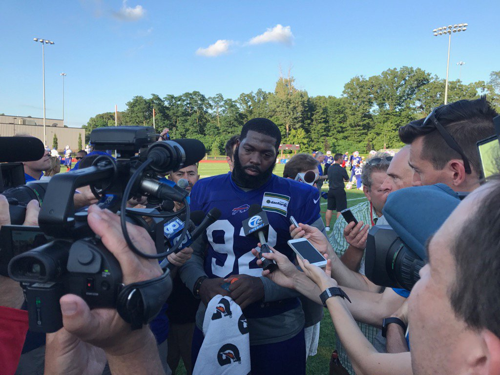 Adolphus Washington spoke publicly for the first time since his July 9 arrest. (Jay Skurski/The Buffalo News)
