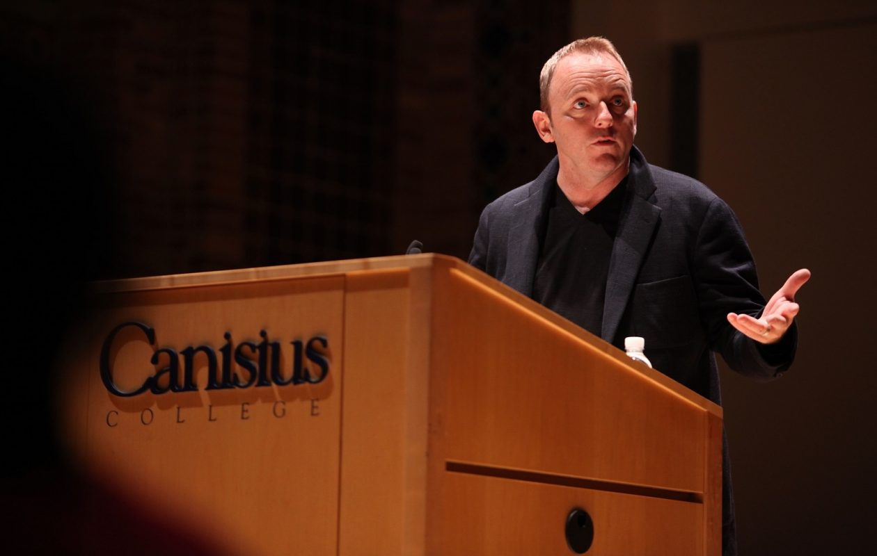 Author Dennis Lehane at the Montante Cultural Center of Canisius College in 2010. (News file photo)
