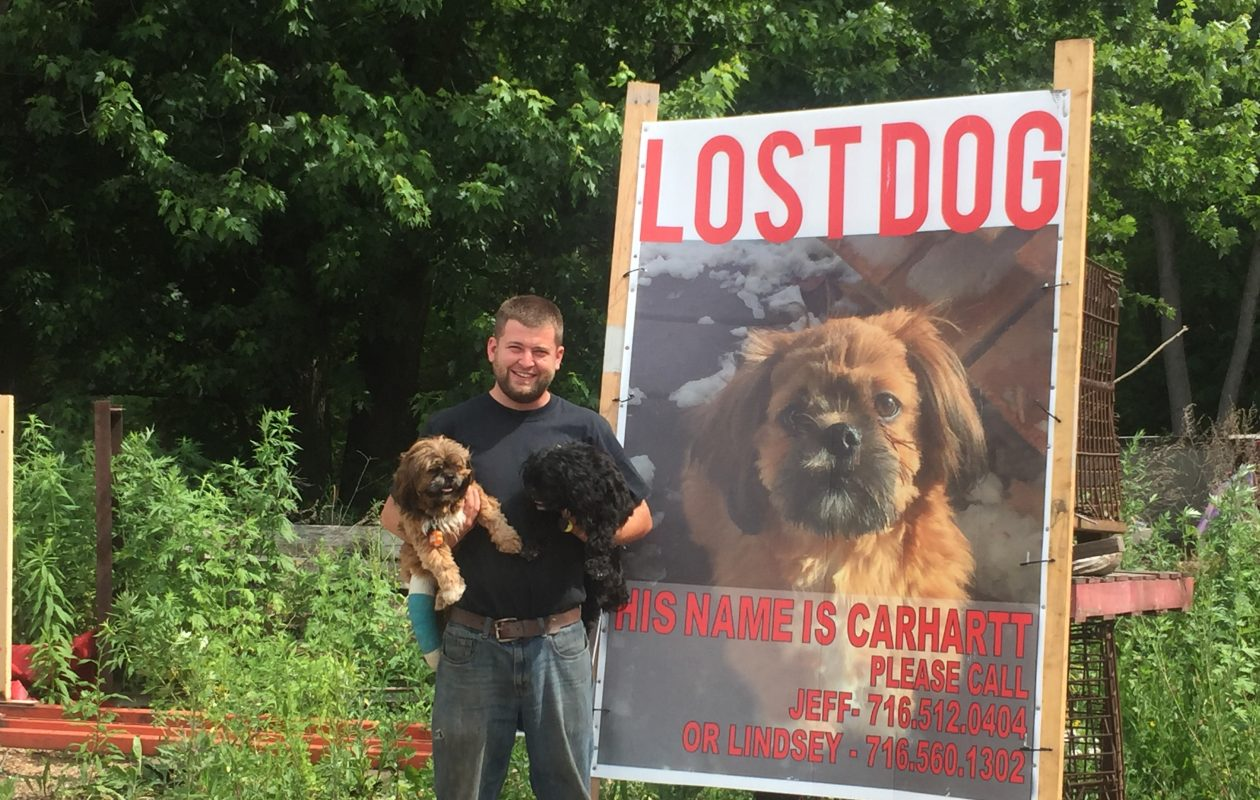 Jeff Heitman with his two Shih Tzus, Carhartt and Coleman. (Emilee Lindner/Special to The News)