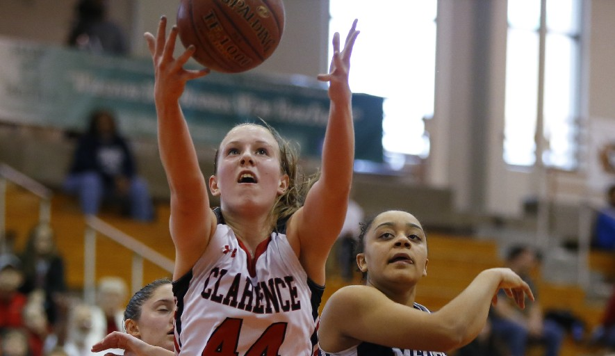 Ella Rose Eckert of Clarence will spend next week in Johnson City, playing basketball against some of the state's best performers. (File photo by Harry Scull Jr./Buffalo News)