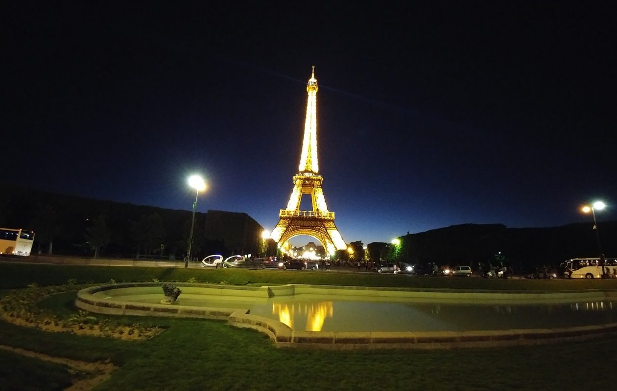 The Eiffel Tower at night. (Photo by Eileen Hotho)