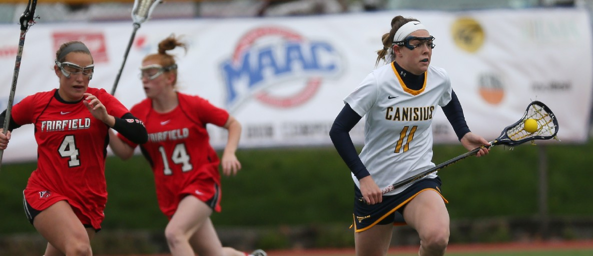 Erica Evans, shown here with Canisius, had a good game even though her Canadian team fell short in the final of the World Cup. (James P. McCoy/Buffalo News file photo)