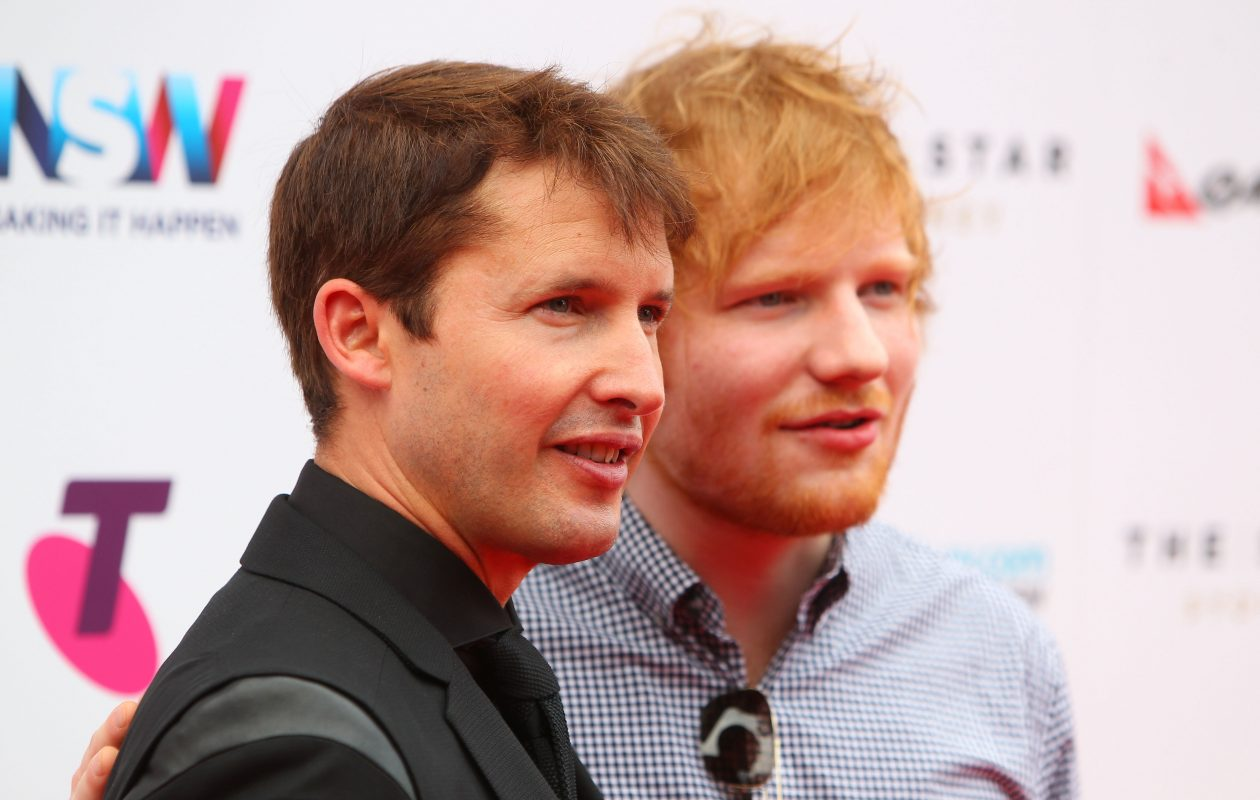 Ed Sheeran and James Blunt  visited Duff's in Amherst on Sunday before their concert at KeyBank Center. (Getty Images)
