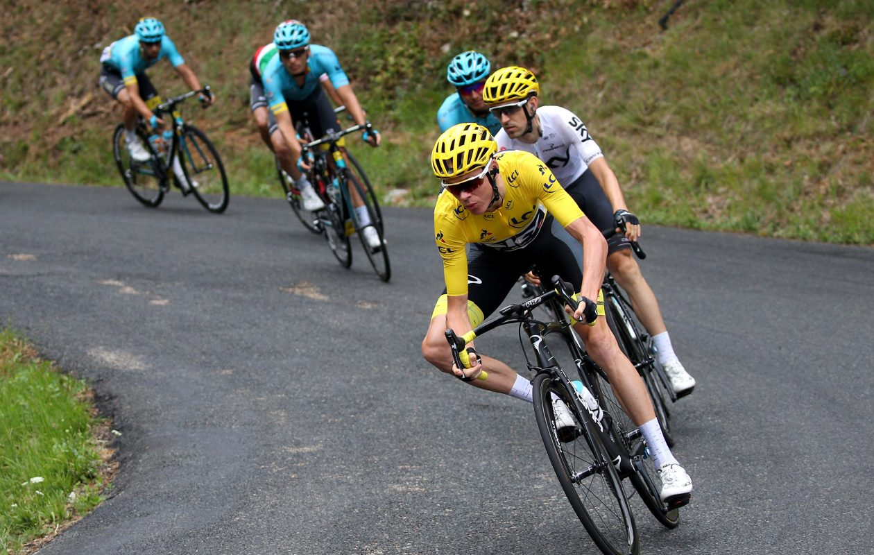 Chris Froome remained in the yellow jersey after stage nine of the Tour de France. (Getty Images)