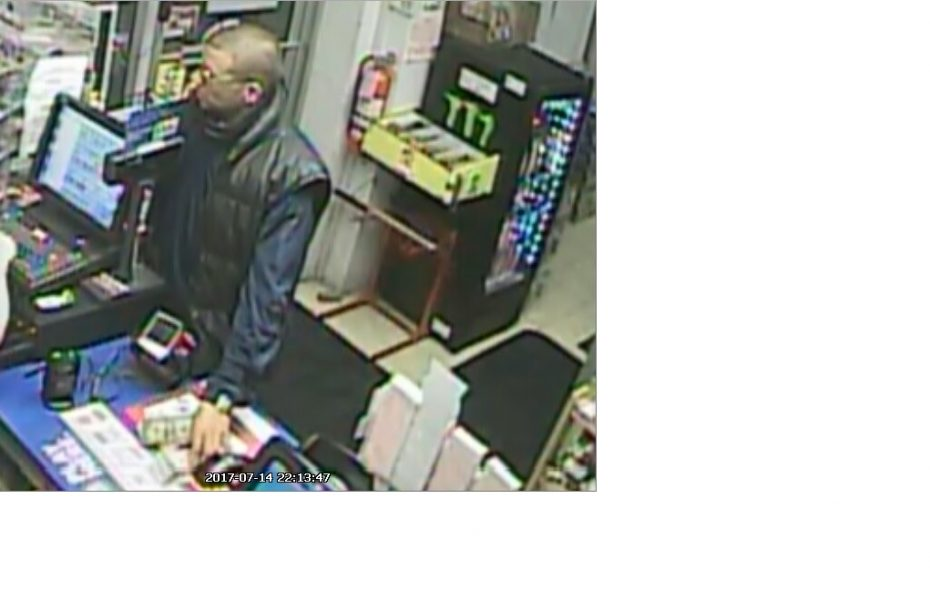 Man suspected of robbing Mobil Station in Grand Island Friday night.  (Crimestoppers photo)