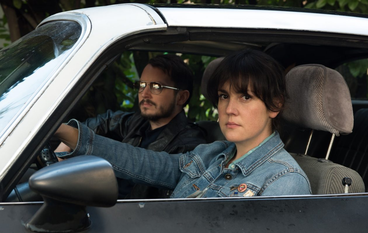 Melanie Lynskey and Elijah Wood star in 'I Don't Feel At Home In This World Anymore.' (Netflix)