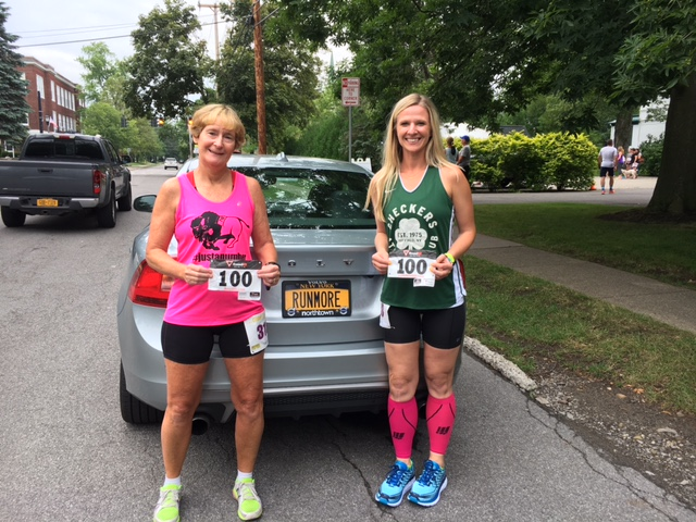 Ann More and Heather Burger both moved into triple digits for races in 2017 last weekend.