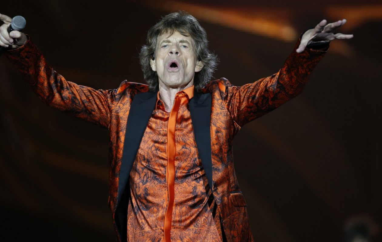 Mick Jagger performs with the Rolling Stones at Ralph Wilson Stadium in 2015. (Harry Scull Jr./Buffalo News)