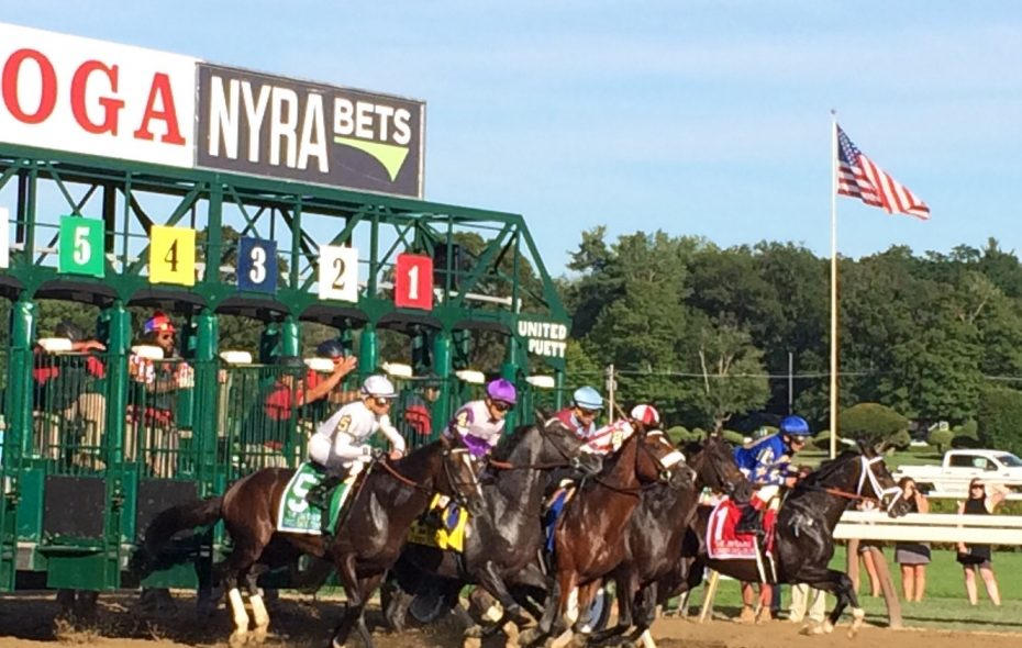The break in the Jim Dandy, won by #5 Good Samaritan