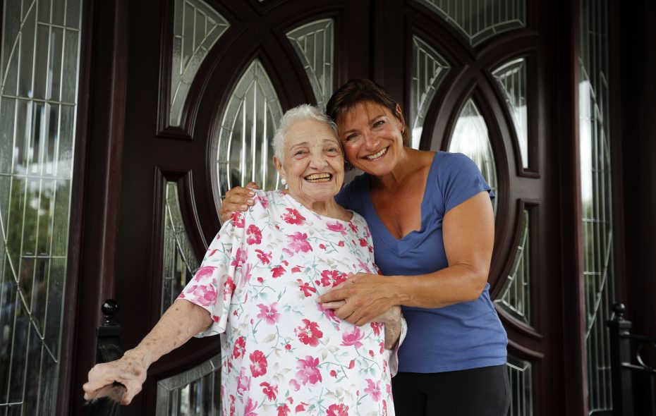 Josephine Coppola and her daughter Mary Beth Drozda at their home on Village Pointe Drive on Thursday, July 13, 2017. Assessed at $2.75 million, their home is the highest-assessed home in the town following Amherst's first townwide reassessment in eight years. (Mark Mulville/Buffalo News)