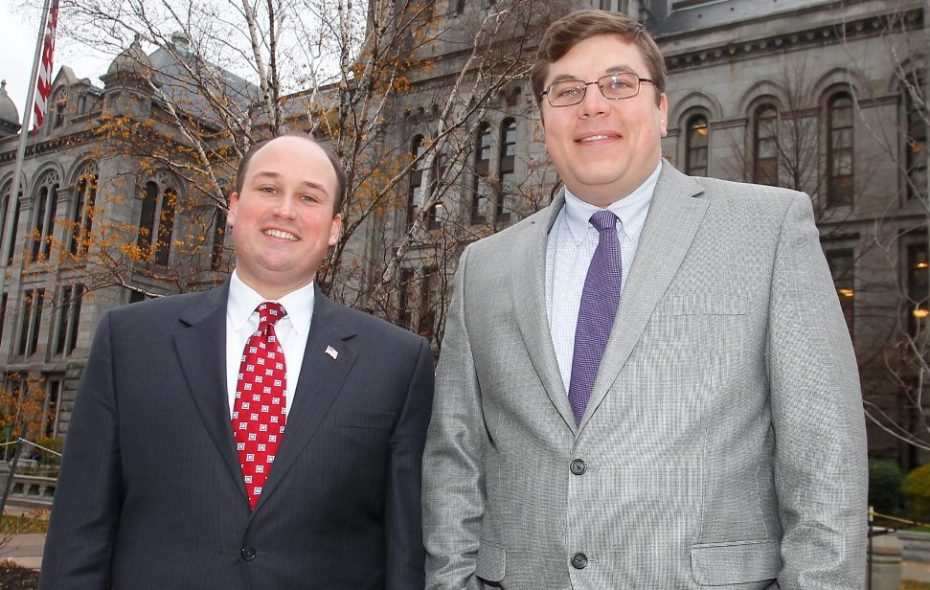 State GOP chairman Nick Langworthy, left, and Erie County Democratic Chairman Jeremy Zellner. (News file photo)