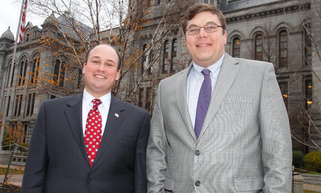 County elections this fall will be a test for  Erie County GOP chairman Nick Langworthy, left, and  Erie County Democratic Chairman Jeremy Zellner. (News file photo)