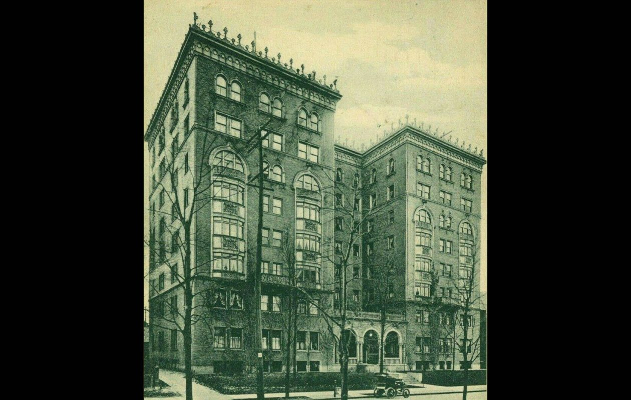 A view of the Lenox Hotel from 'Buffalo: Old and New,' published in 1901. It was once the home of author F. Scott Fitzgerald.