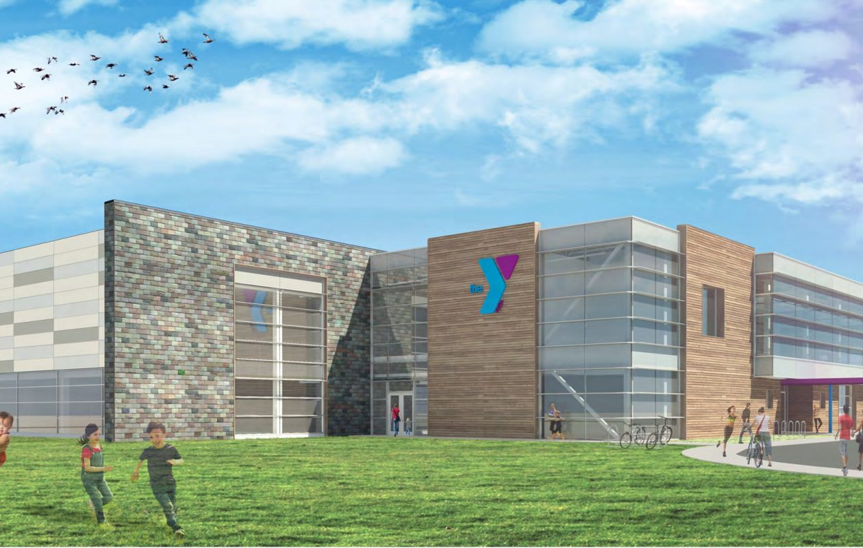 Architect's rendering for new Lockport Family YMCA, for which ground was broken July 28, 2017. (Courtesy CJS Architects)