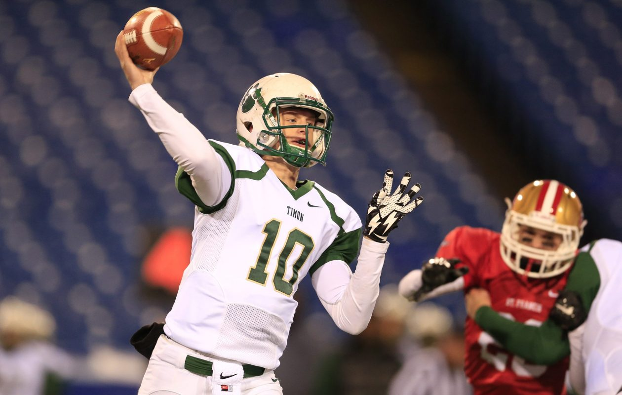 Bishop Timon quarterback Matt Myers hopes to decide in the near future where he'll go to school in the fall. (File photo by Harry Scull Jr./Buffalo News)