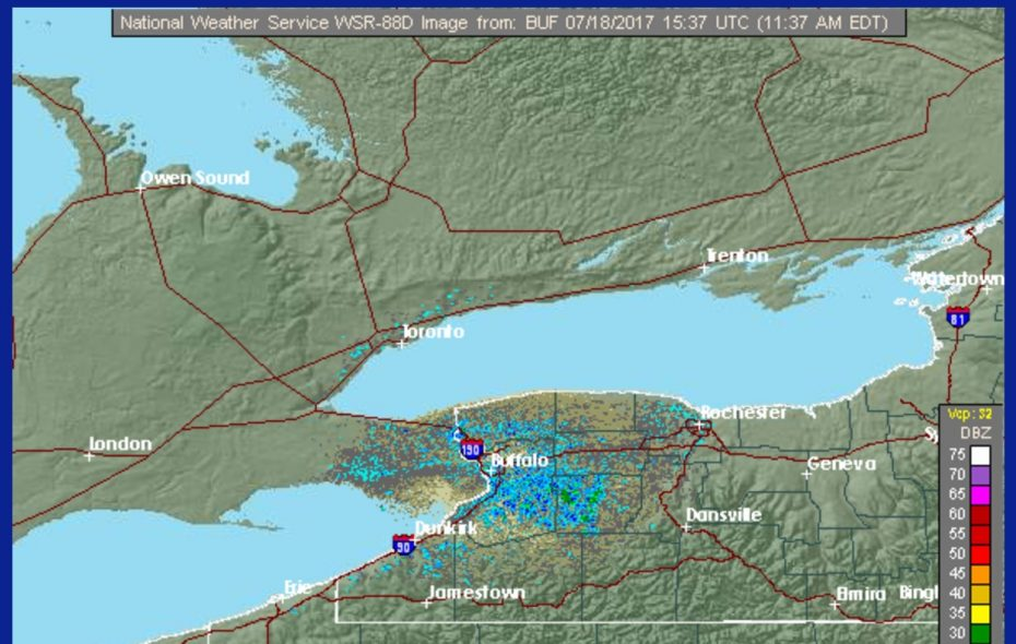 The Buffalo radar picture came back online this morning. (National Weather Service)