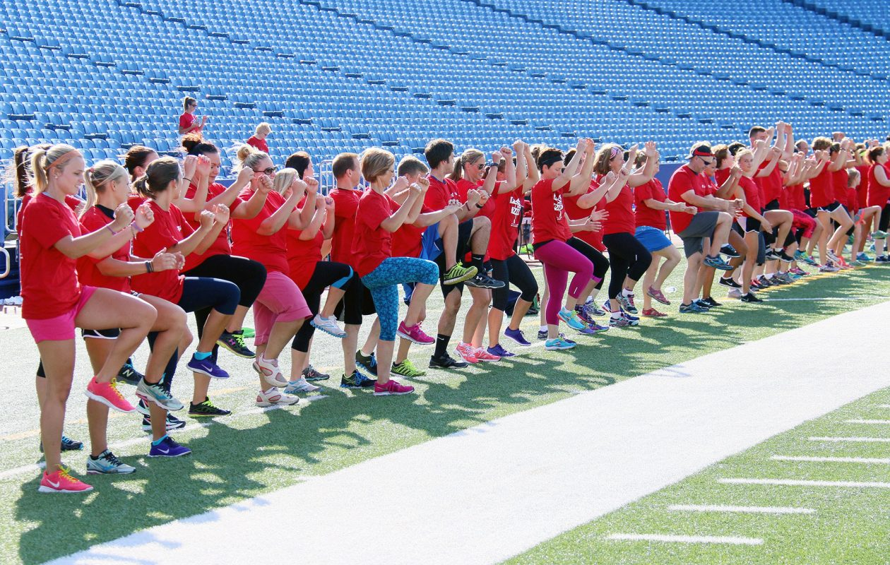 From New Era Field to RiverWorks and public parks, you can find an outdoor boot camp, yoga or Pilates class, Zumba session and more through the Fitness in the Parks program.