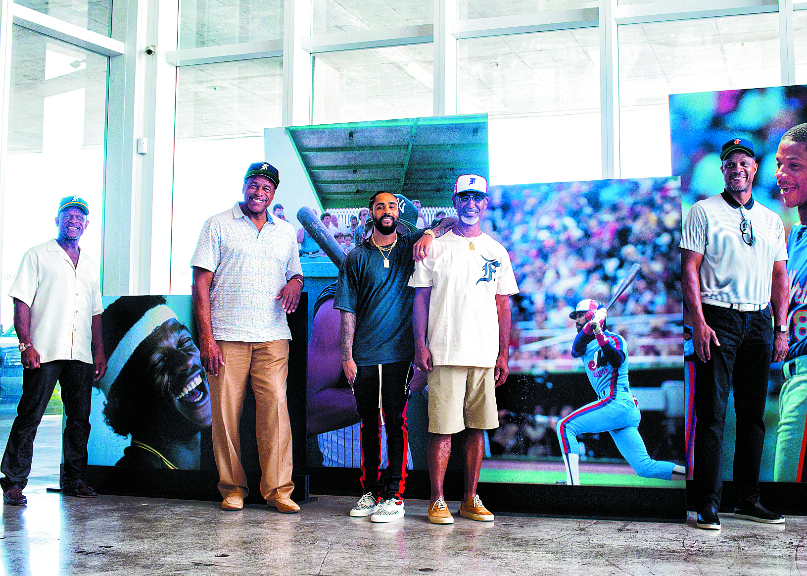 1ffc79d4cab62 Several former Major League Baseball all-stars attended the unveiling of a  new cap collection created in a collaboration with New Era Cap and Fear of  God at ...