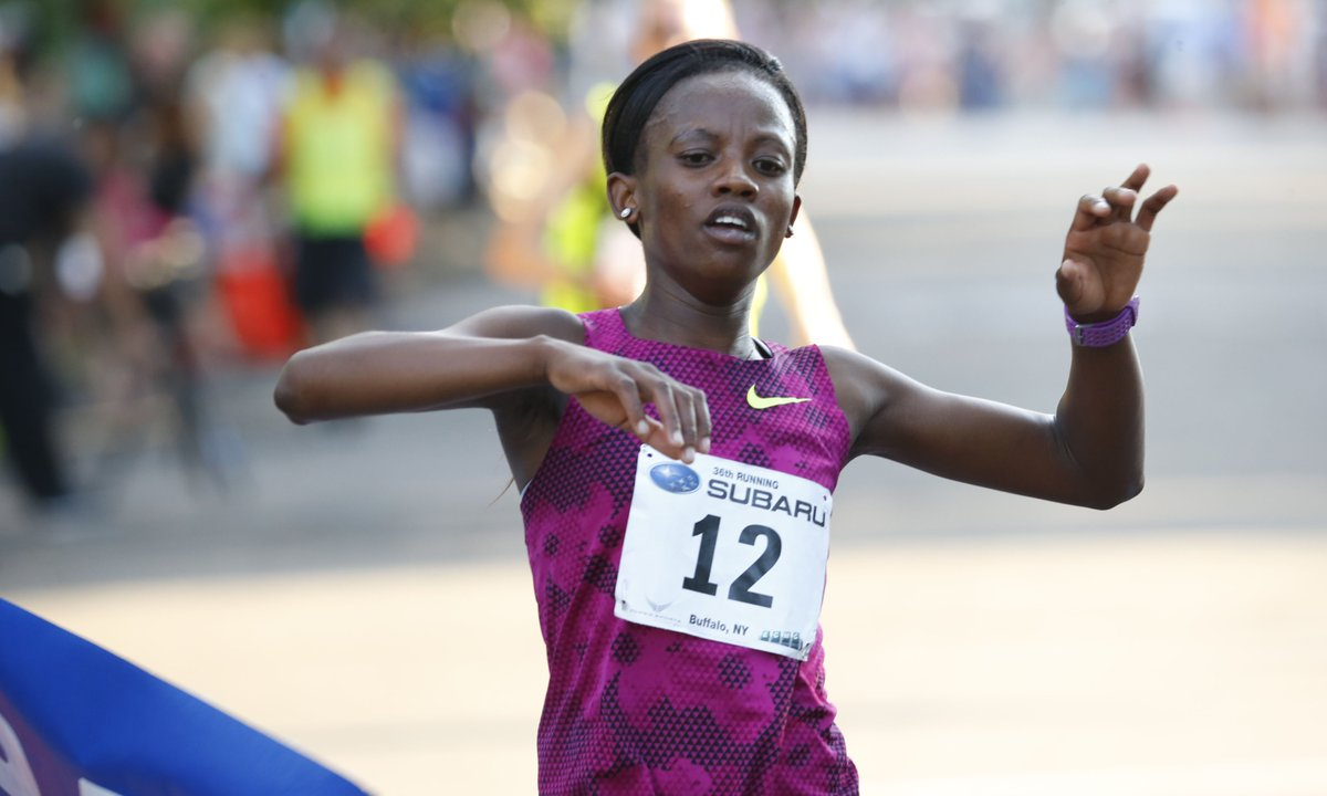 Monica Ngige of Kenya is back to defend her title in the Subaru 4 Mile Chase (Harry Scull Jr./Buffalo News)