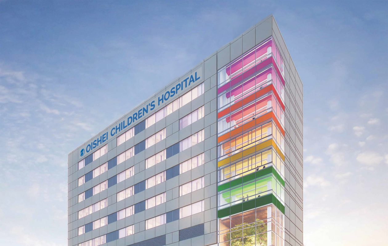 Artist's rendering of lettering for new Oishei Children's Hospital on downtown medical campus. (Rendering provided by Kaleida Health).