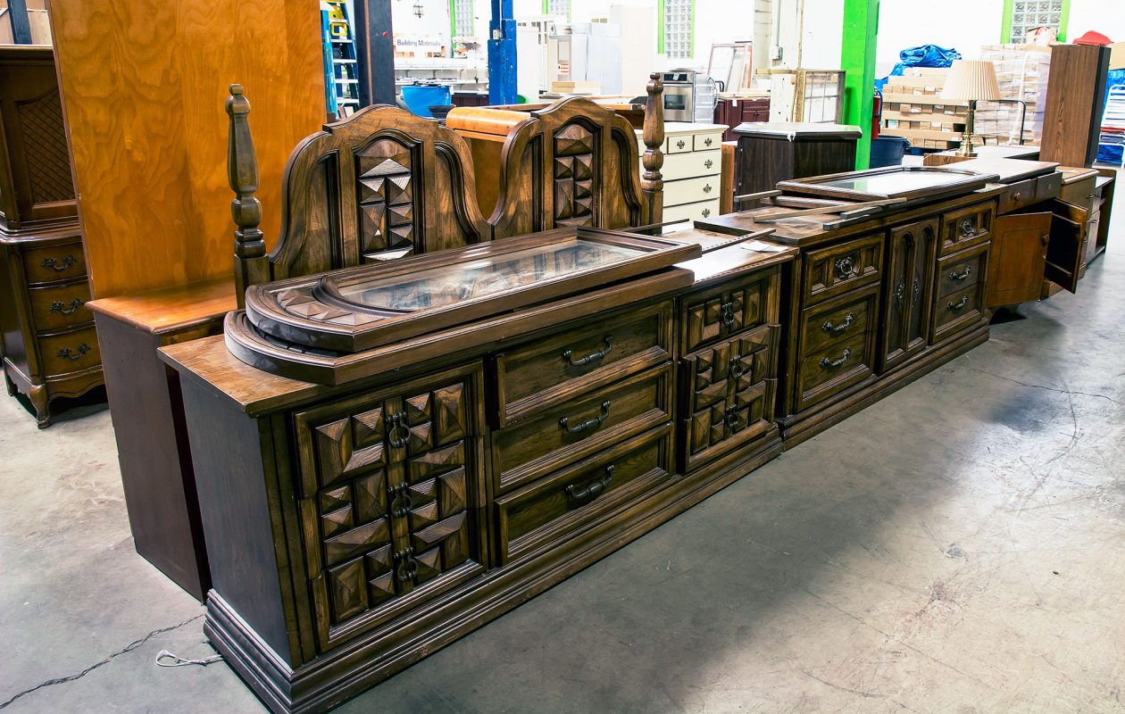 Fresh items arrive at ReStore daily, including everything from building materials to appliances to furniture, all sold at a deep discount. Proceeds fund Habitat for Humanity.