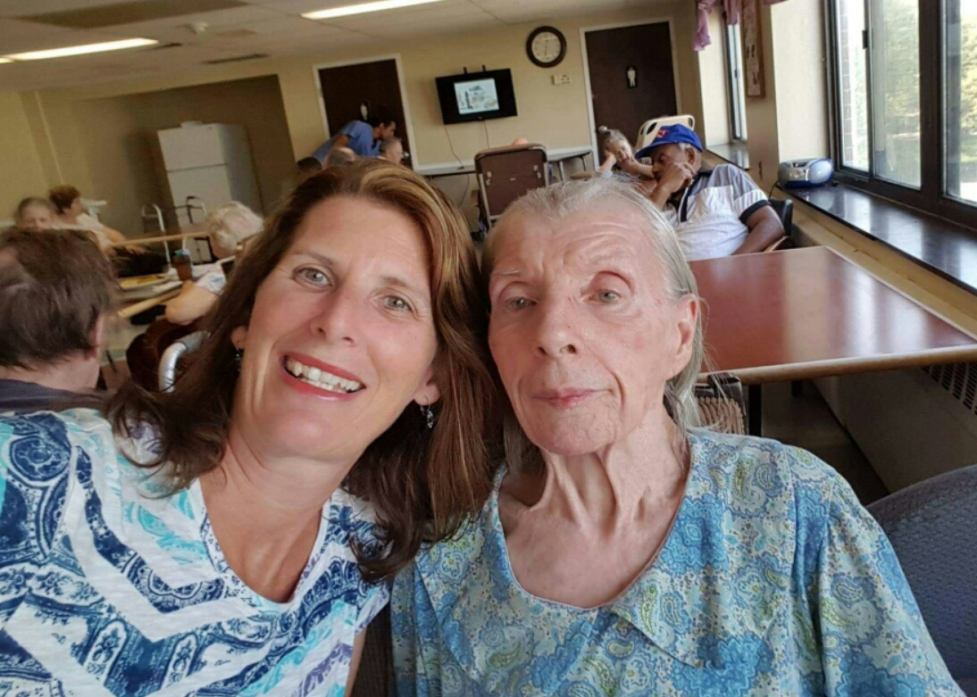 Photo of Ruth Murray, right, and her daughter Carol Kuszniaj on Aug. 25, 2017, the day before Murray was attacked by a fellow nursing home resident.