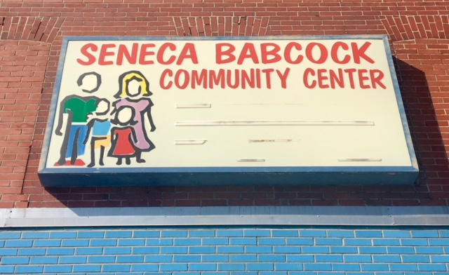 Seneca-Babcock Community Center located at  1168 Seneca St.