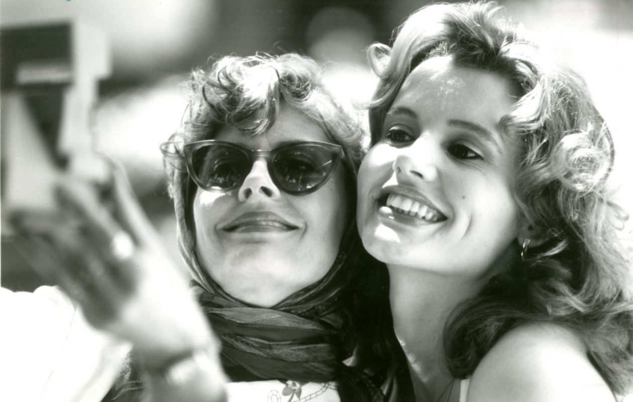 Susan Sarandon (left) and Geena Davis (right) star as two best friends whose weekend getaway unexpectedly takes them on an adventurous, often humorous race against time in 'Thelma & Louise.' (News file photo)