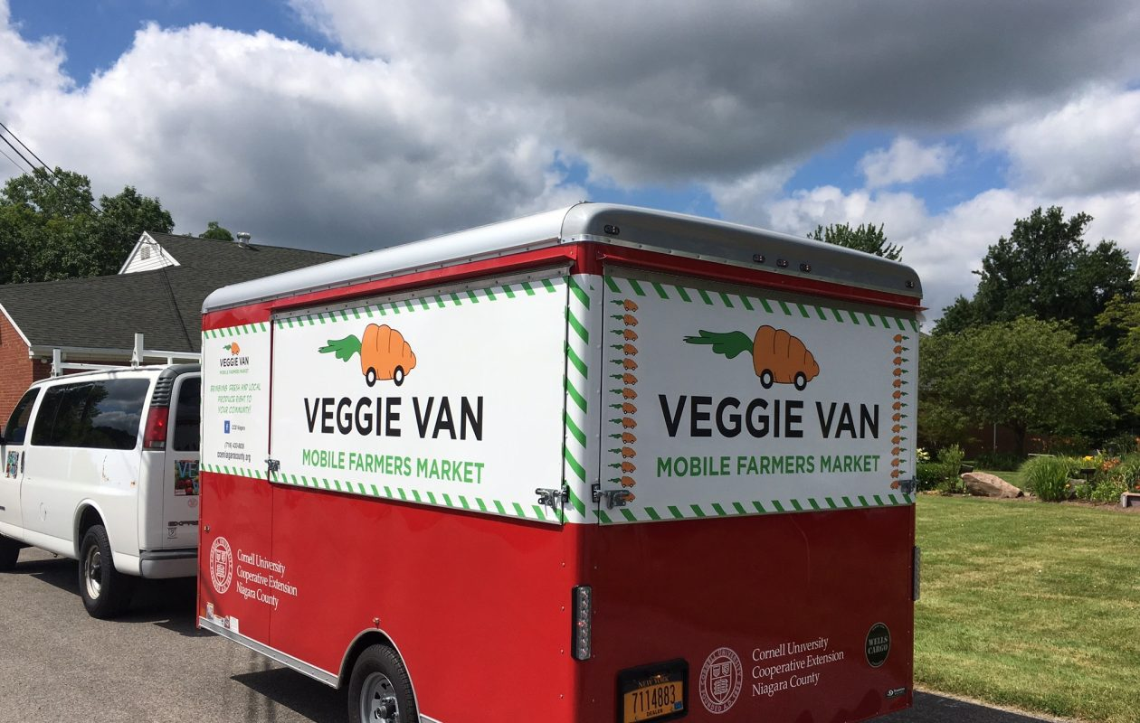 The Veggie Van, a mobile farmer's market, will locally grown produce in Lackawanna and Niagara Falls.