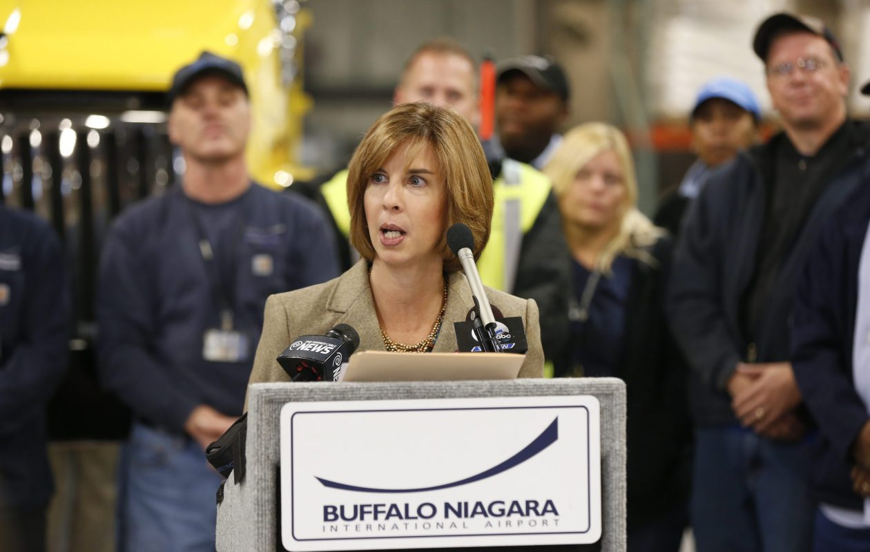 Kimberley Minkel, executive director of the NFTA, pictured in 2014. (Robert Kirkham/Buffalo News)