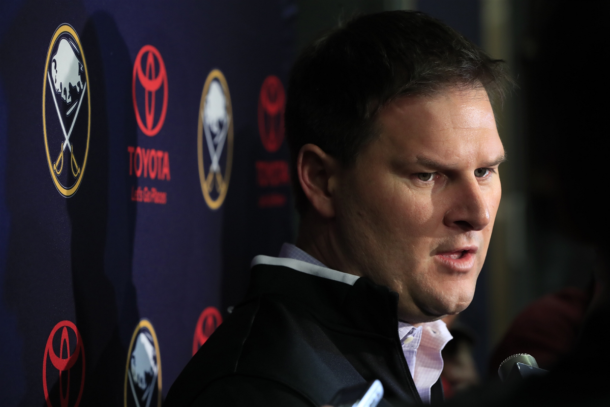 Sabres General Manager Jason Botterill is aware the organization needs to add to its depth. (Harry Scull Jr./News file photo)