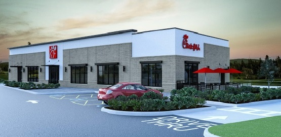Artist's rendering of proposed Chick-fil-A on Walden Avenue in Cheektowaga.