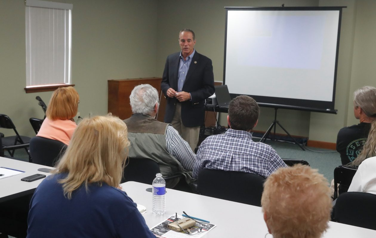 Rep. Chris Collins  sponsored a gun safety course and  training by Defensor, Inc. firearms instruction staff and representatives on Saturday, July 8, 2017.  (John Hickey/Buffalo News)