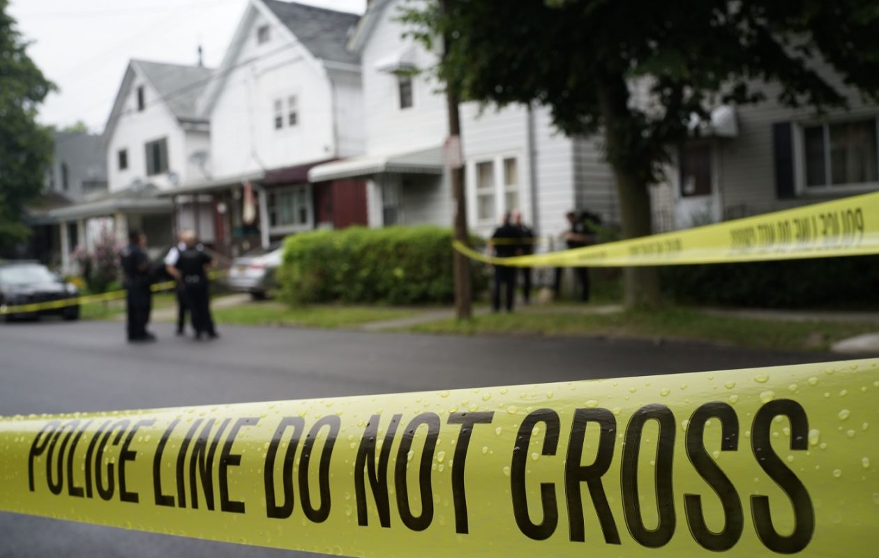 The rate at which people have been shot in Buffalo over the last six years isn't far from what's happened in Chicago. Among the latest instances of gunfire in Buffalo,  police investigated a fatal shooting on Detroit Street on July 27. (Derek Gee/Buffalo News)