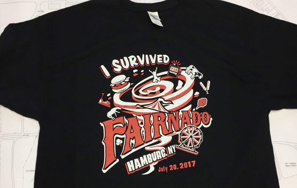 'I Survived Fairnado' T-shirt pokes fun at Thursday's damaging tornado which hit the fairground site