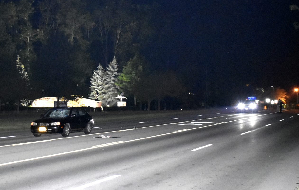 A pedestrian was killed on River Road in North Tonawanda overnight Monday. (Larry Kensinger/Special to The News)
