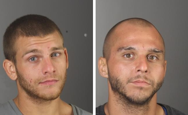 Jeremy Cyphers, 23, left, and Matthew Vaughan, 27, both of Niagara Falls, were charged Wednesday with burglary and grand larceny. (Photos courtesy of the Erie County Sheriff's Office)