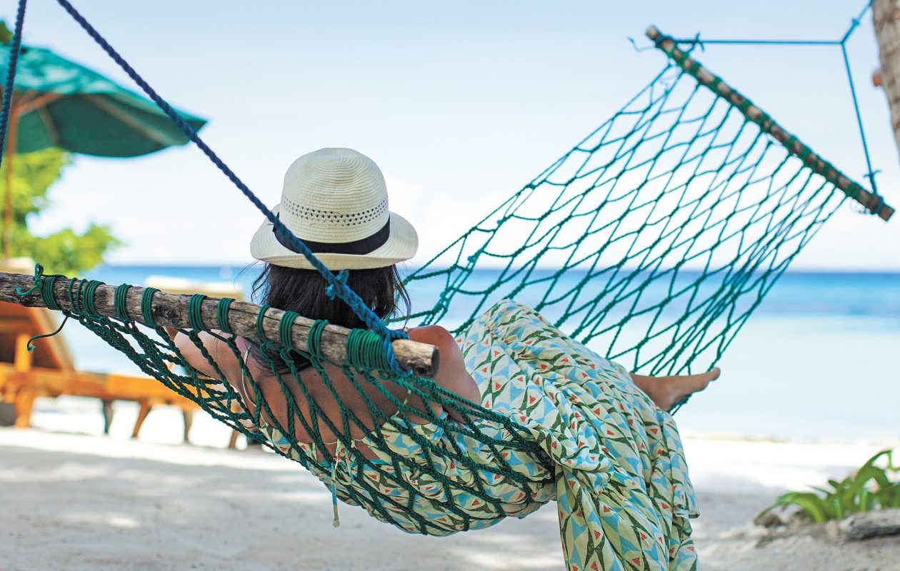 Enjoy the summer season in a hammock.