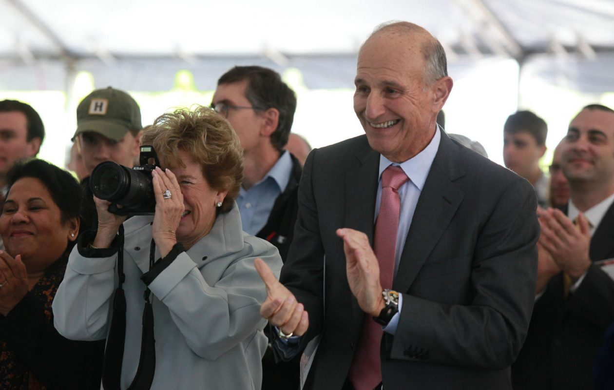 Jeremy Jacobs (right) and Margaret Jacobs in 2012. (Harry Scull Jr./Buffalo News)