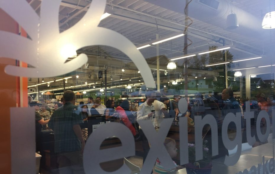 Customers swarmed the new Lexington Cooperative Market location when it opened on Hertel Avenue on Wednesday morning. (Aaron Besecker/Buffalo News)
