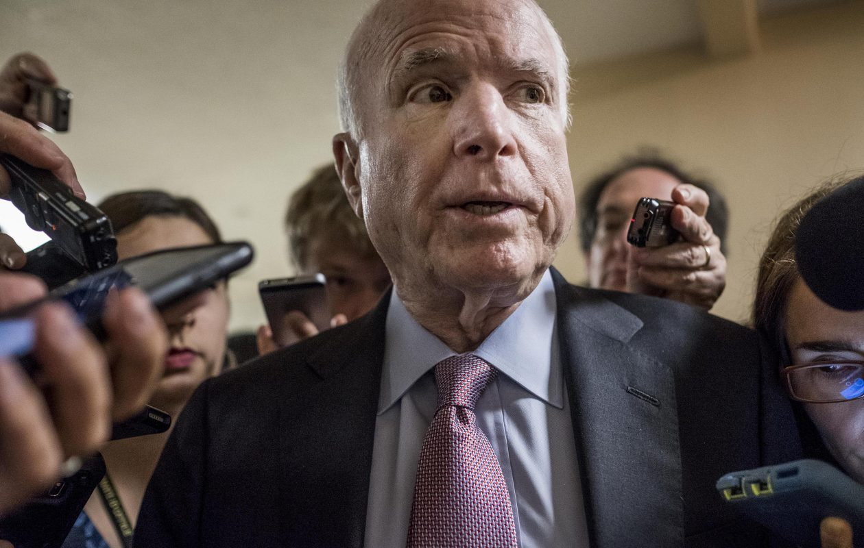 Sen. John McCain  has been admitted to Walter Reed National Military Medical Center for recovery from the side effects of another round of treatment for brain cancer. (Getty Images)