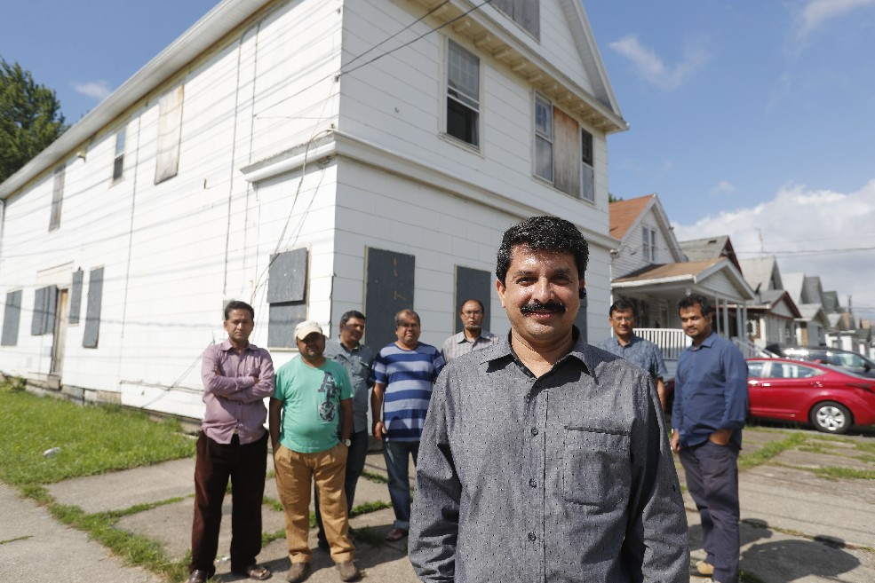 Mohammad Rahman plans to open a Muslim community center, which would be open to everyone, in the empty building at the corner of Minnesota and Suffolk avenues. (Mark Mulville/Buffalo News)