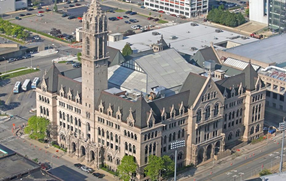 New ECC president is making administrative cuts  to keep intact the college's sports program and to maintain hours at the college gym downtown. (Robert Kirkham/Buffalo News)