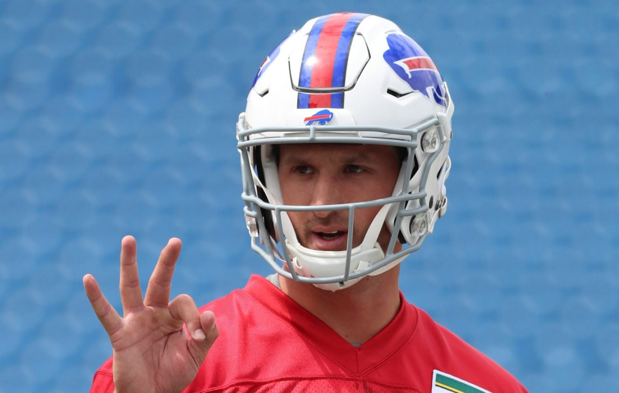 Bills rookie quarterback Nathan Peterman will start against the Los Angeles Chargers Sunday. (James P. McCoy/Buffalo News)