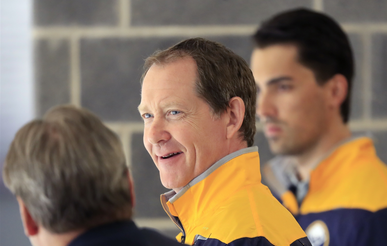 Phil Housley likes the aggressive style the Sabres have begun to play. (Harry Scull Jr./News file photo)