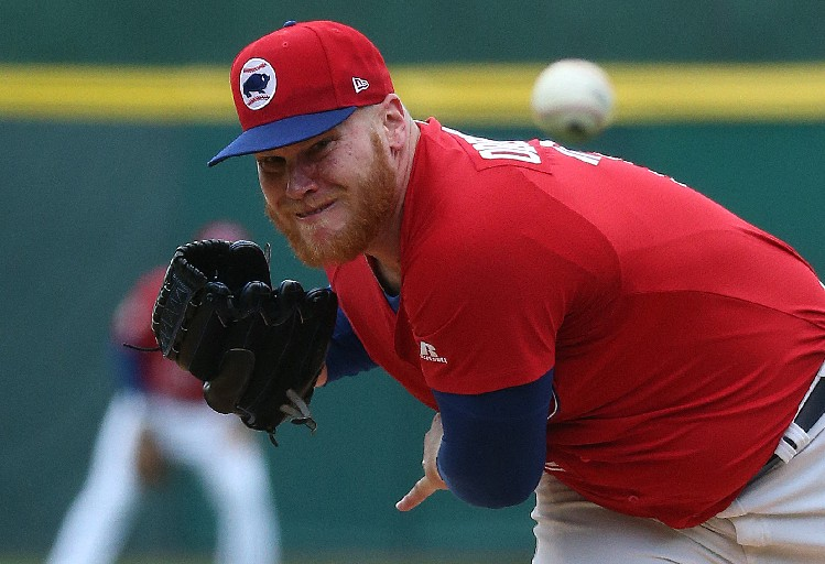 Brett Oberholtzer had another tough outing for the Bisons on Tuesday night. (File photo by James P. McCoy/Buffalo News)