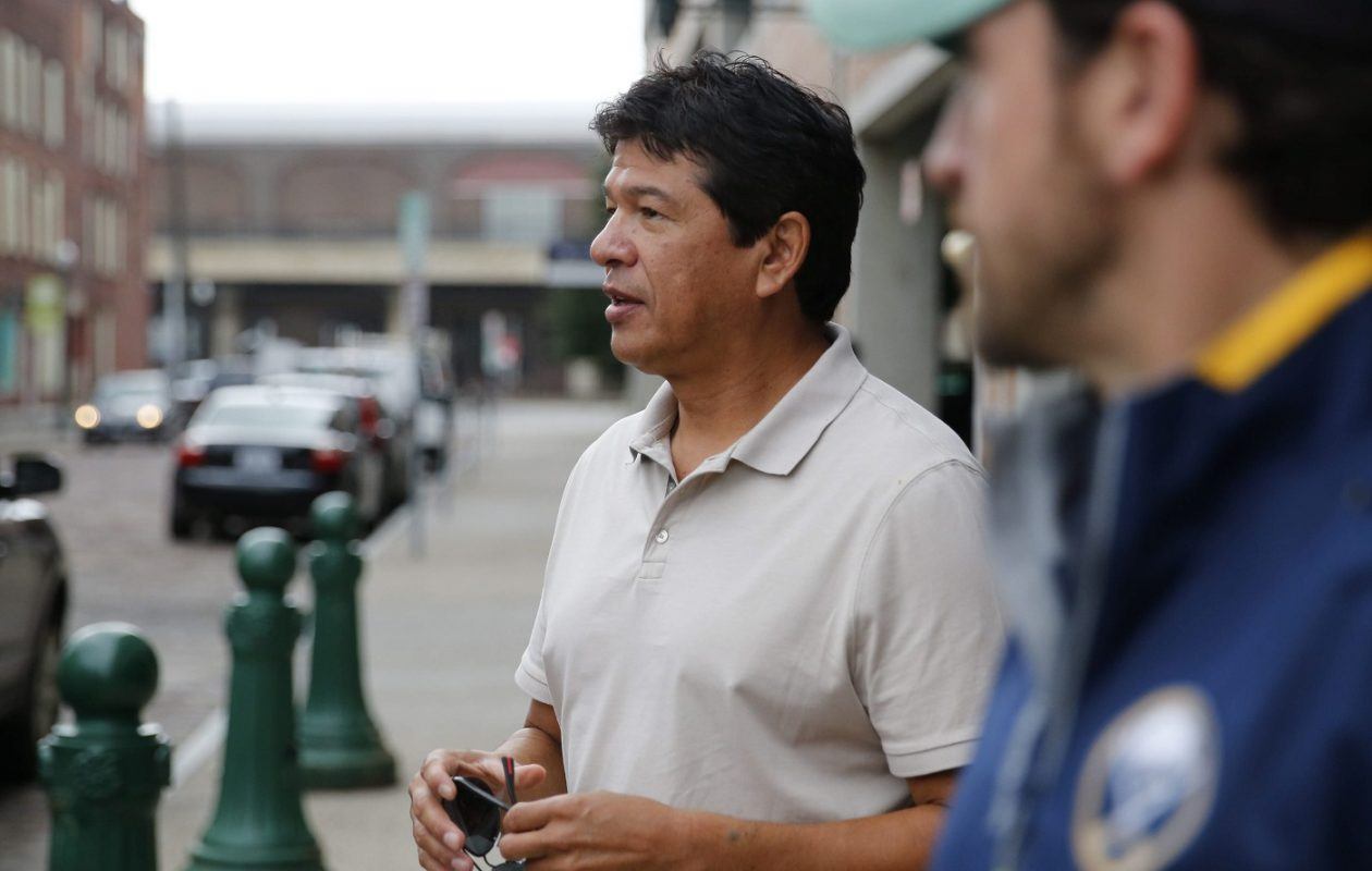 Sabres coach Ted Nolan heads out to deliver season tickets to fans on, Thursday, Sept. 18, 2014.  (Derek Gee/Buffalo News)