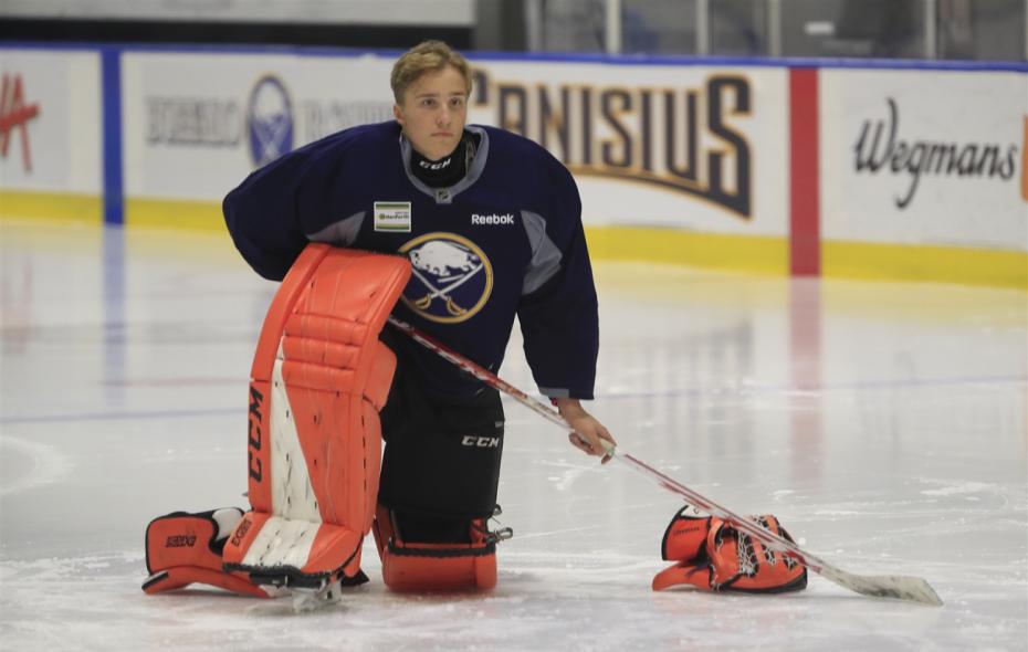 Ukko-Pekka Luukkonen has attended Sabres development camp the last two years. (Harry Scull Jr./News file photo)
